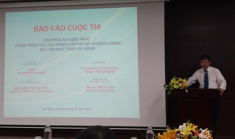 Ông Đặng Việt Dũng – Phó Chủ tịch thường trực UBND thành phố Đà Nẵng, Trưởng ban tổ chức cuộc thi, Chủ tịch Hội đồng tuyển chọn phát biểu khai mạc
